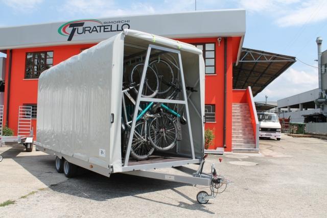 Rimorchio trasporto biciclette - Turatello rimorchi