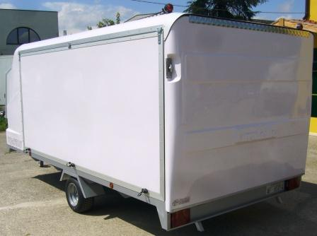 Box trailer for lightweight transport turatello rimorchi for Bertuola rimorchi