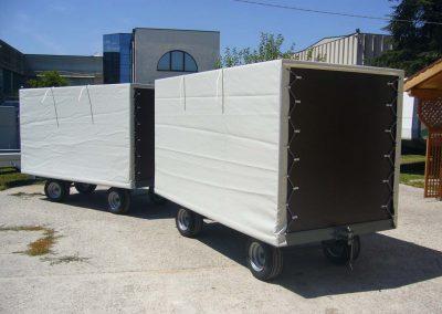 rimorchio per trasporto carrelli 3